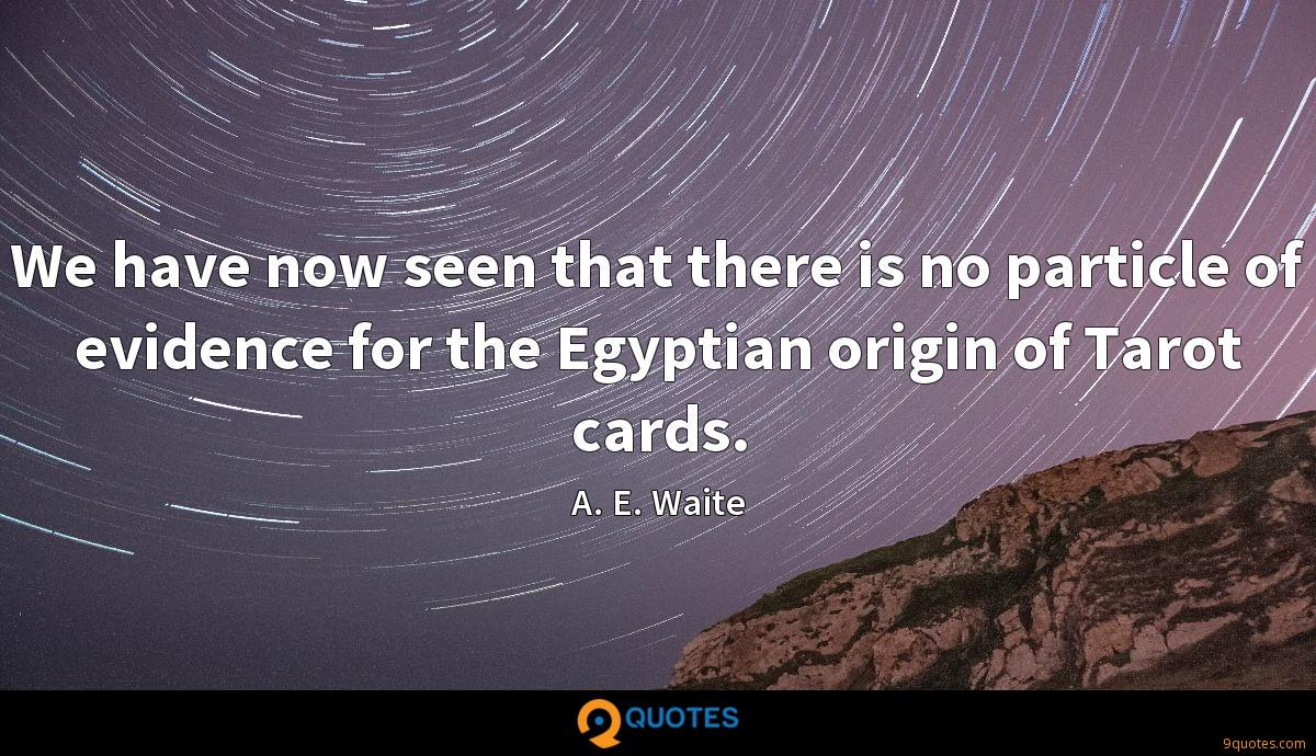 We have now seen that there is no particle of evidence for the Egyptian origin of Tarot cards.
