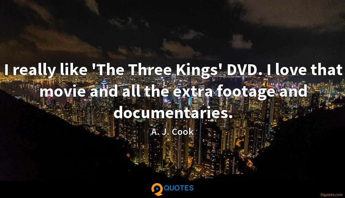 I really like 'The Three Kings' DVD. I love that movie and all the extra footage and documentaries.