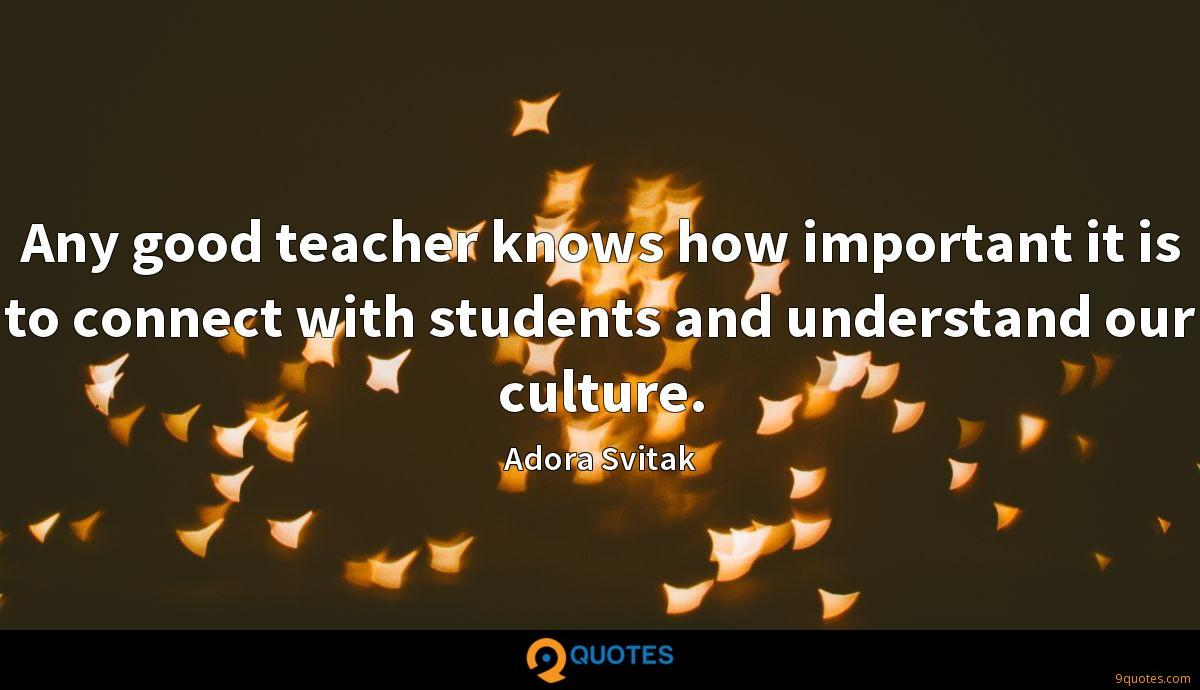 Any good teacher knows how important it is to connect with students and understand our culture.