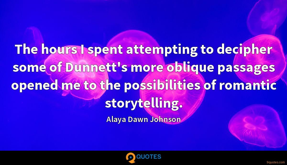 Alaya Dawn Johnson quotes