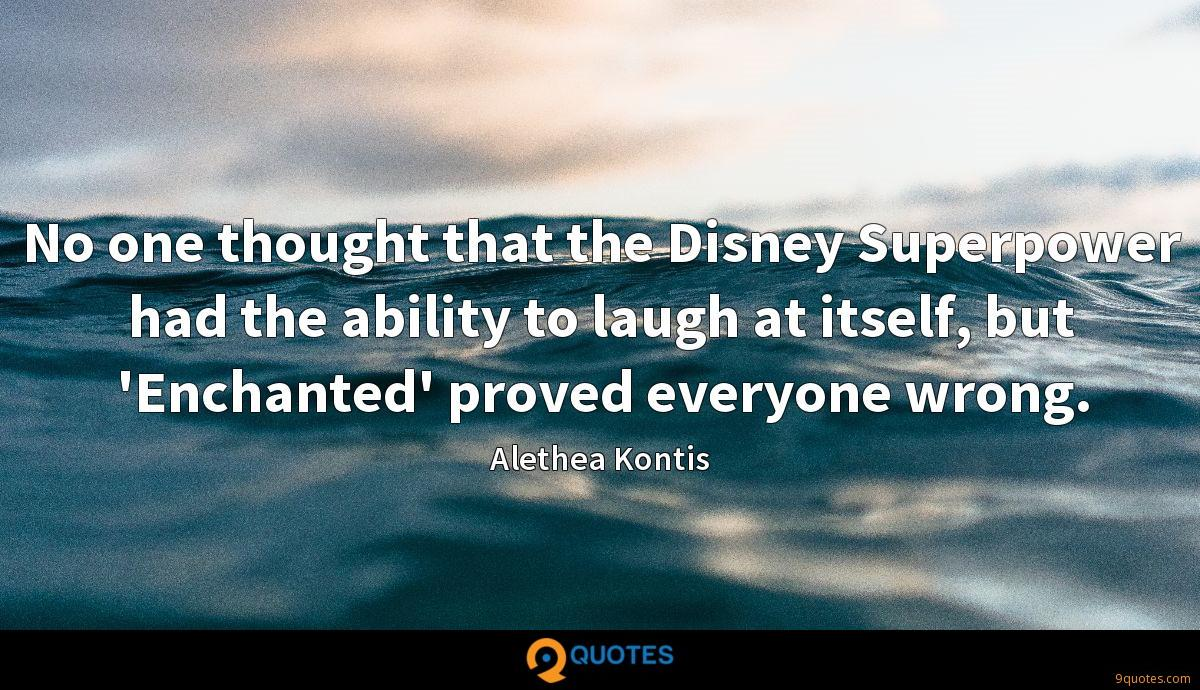 No one thought that the Disney Superpower had the ability to laugh at itself, but 'Enchanted' proved everyone wrong.