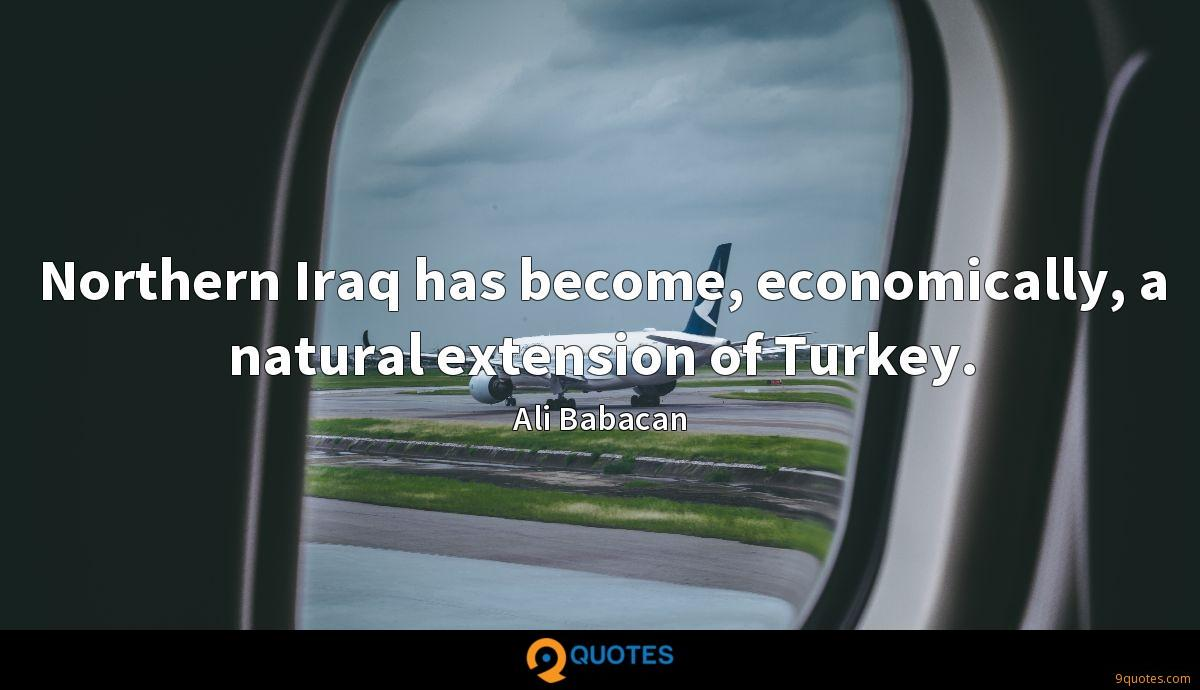 Northern Iraq has become, economically, a natural extension of Turkey.