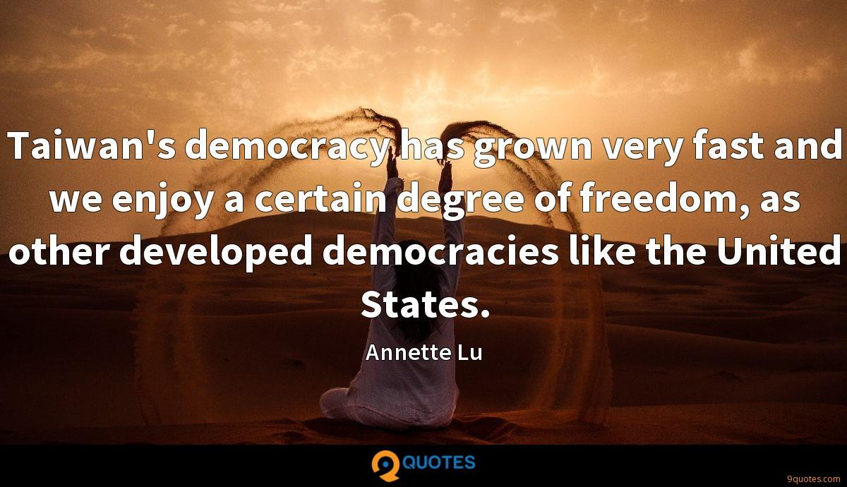 Annette Lu quotes