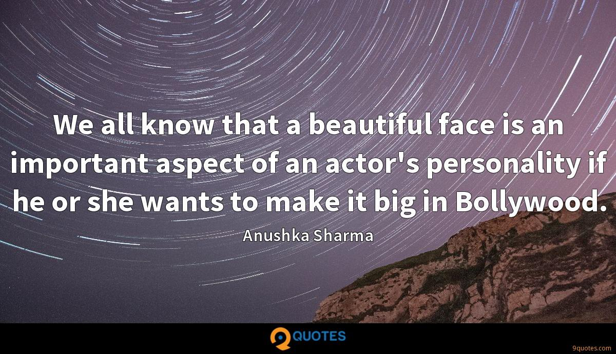 We all know that a beautiful face is an important aspect of an actor's personality if he or she wants to make it big in Bollywood.
