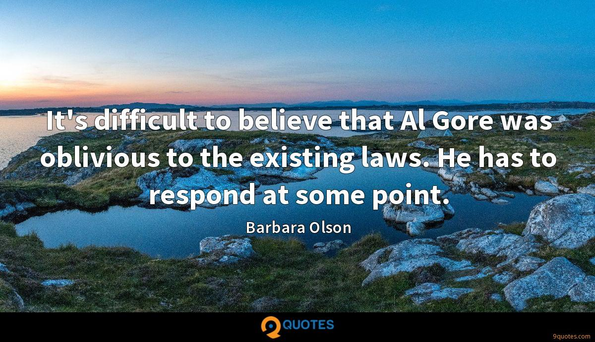 It's difficult to believe that Al Gore was oblivious to the existing laws. He has to respond at some point.