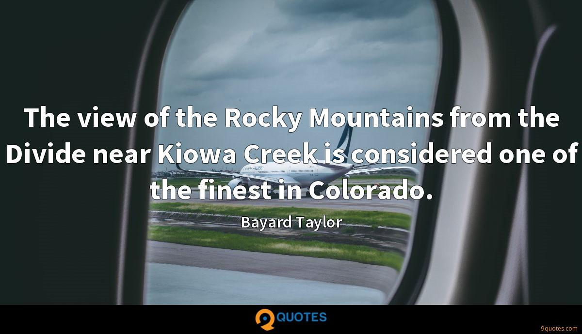 The view of the Rocky Mountains from the Divide near Kiowa Creek is considered one of the finest in Colorado.