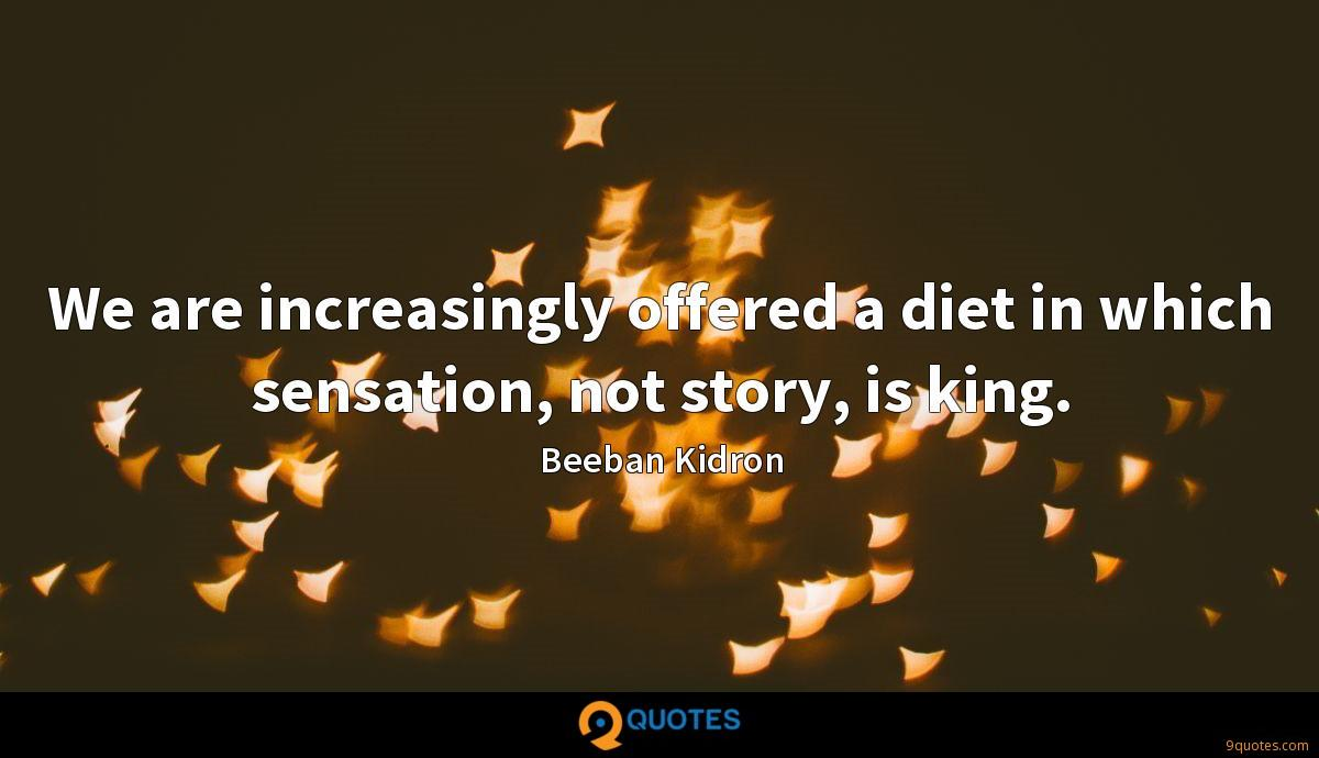 We are increasingly offered a diet in which sensation, not story, is king.