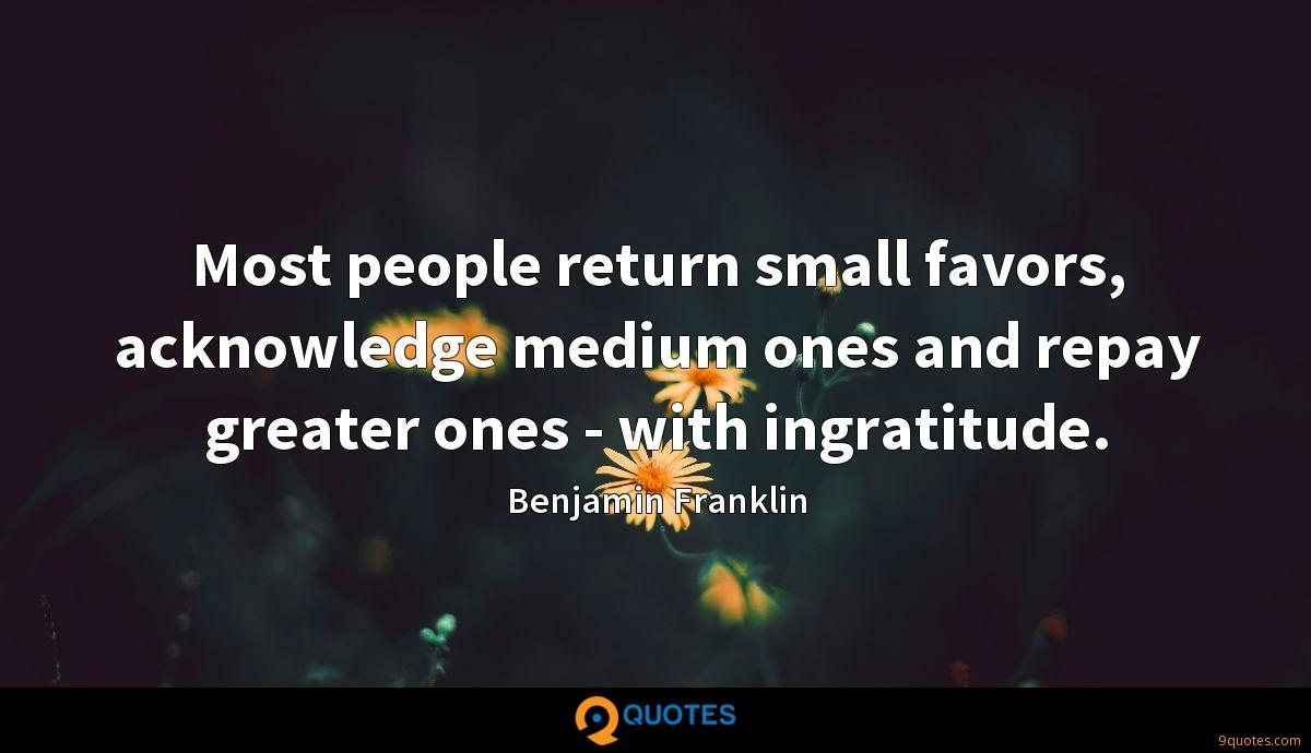 Most People Return Small Favors Acknowledge Medium Ones And