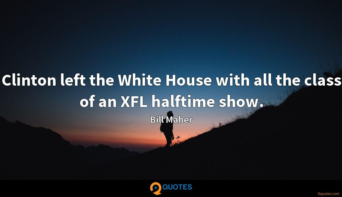 Clinton left the White House with all the class of an XFL halftime show.
