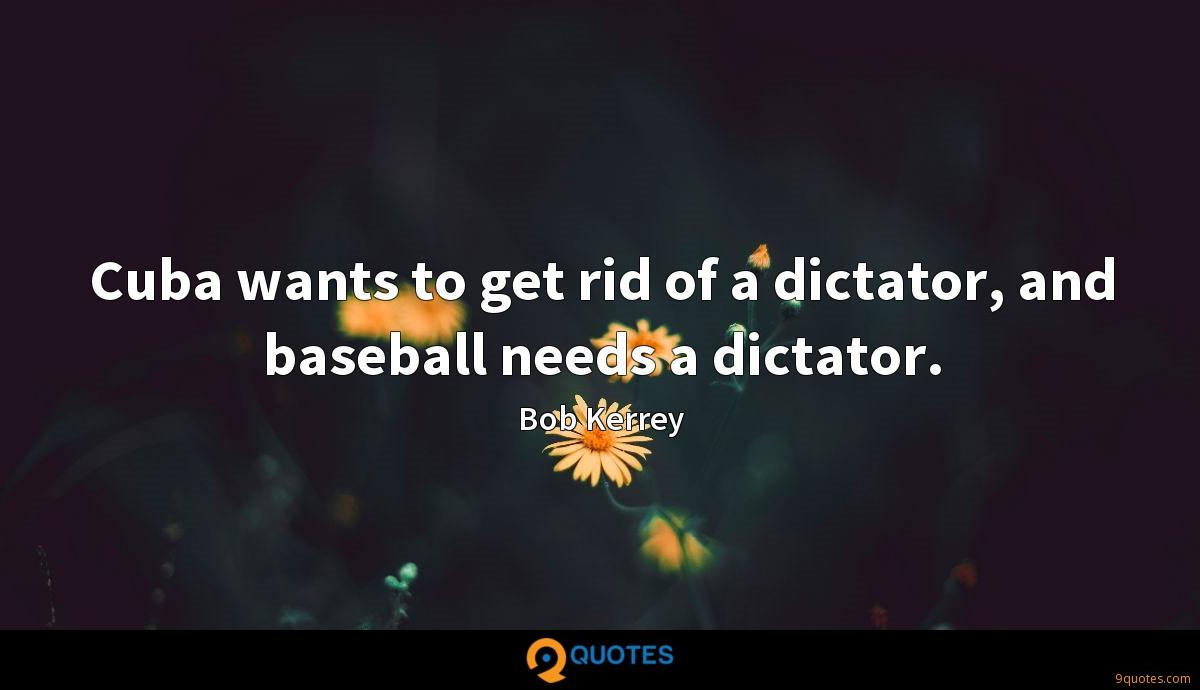 Cuba wants to get rid of a dictator, and baseball needs a dictator.