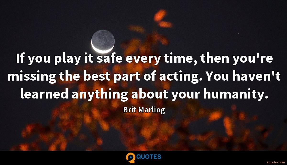 Brit Marling quotes