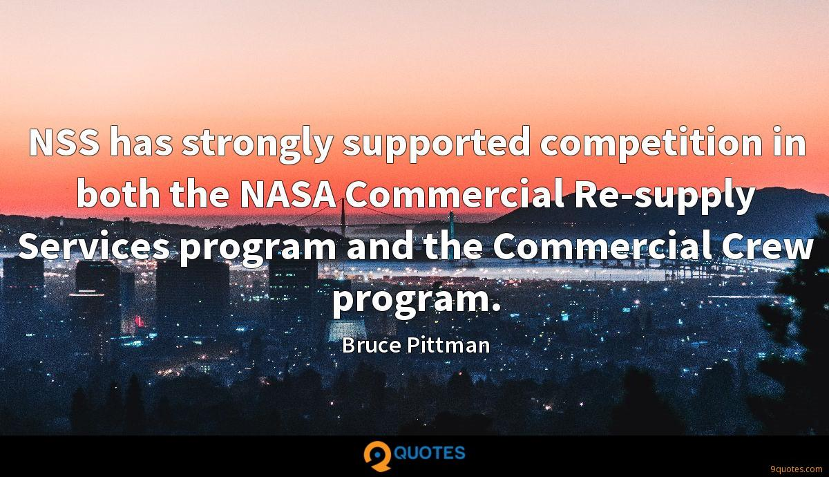 NSS has strongly supported competition in both the NASA Commercial Re-supply Services program and the Commercial Crew program.