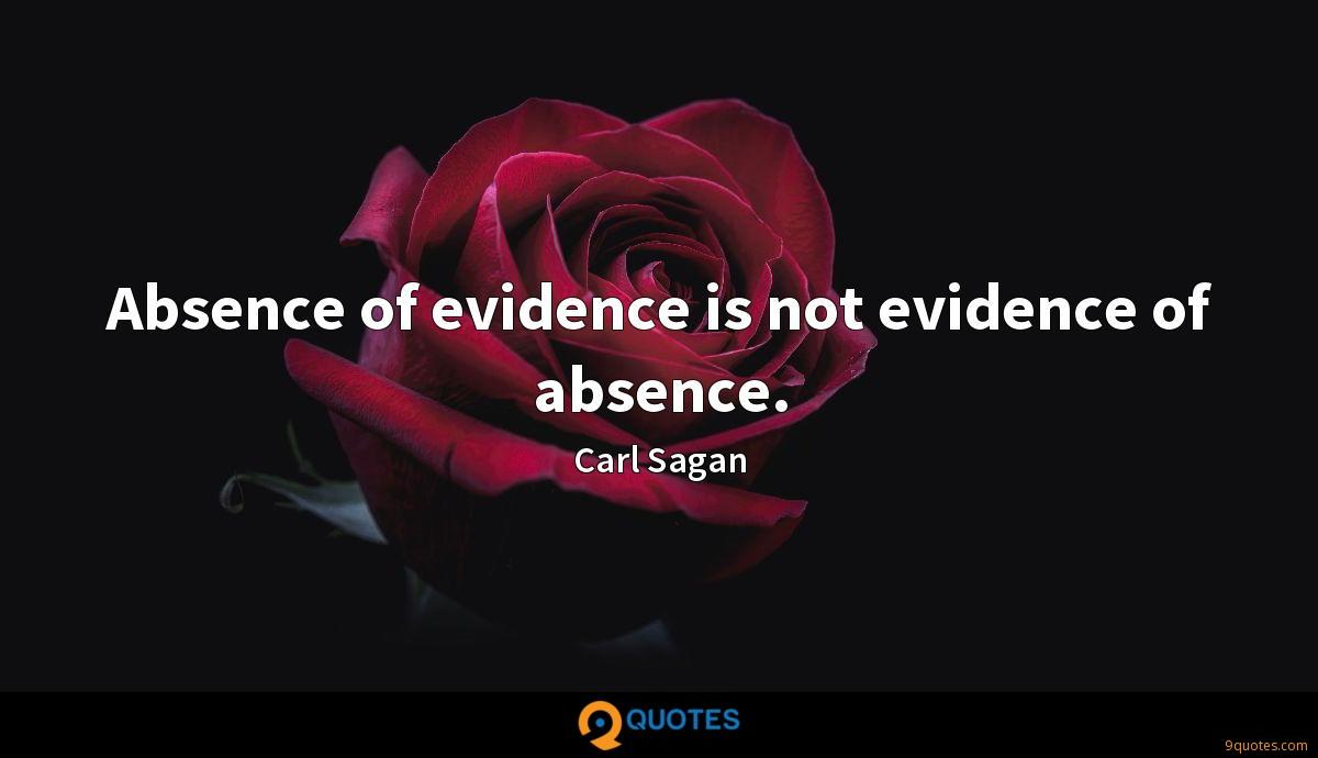 Absence of evidence is not evidence of absence.