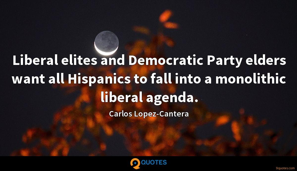 Liberal elites and Democratic Party elders want all Hispanics to fall into a monolithic liberal agenda.