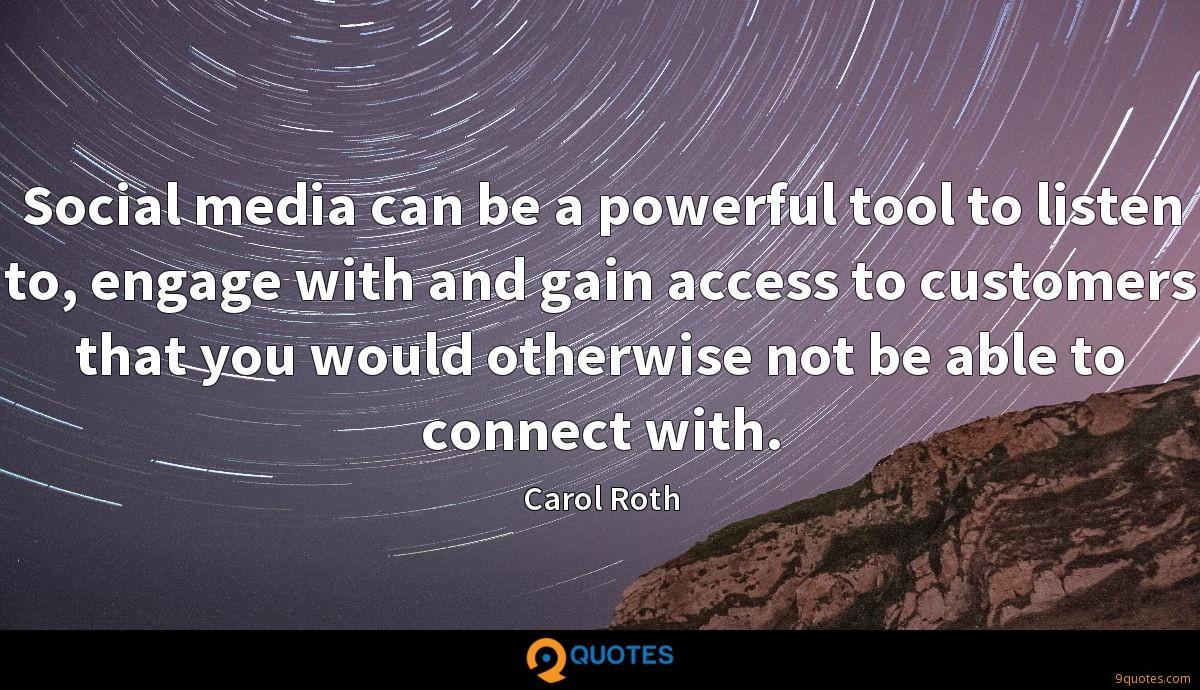 Social media can be a powerful tool to listen to, engage with and gain access to customers that you would otherwise not be able to connect with.