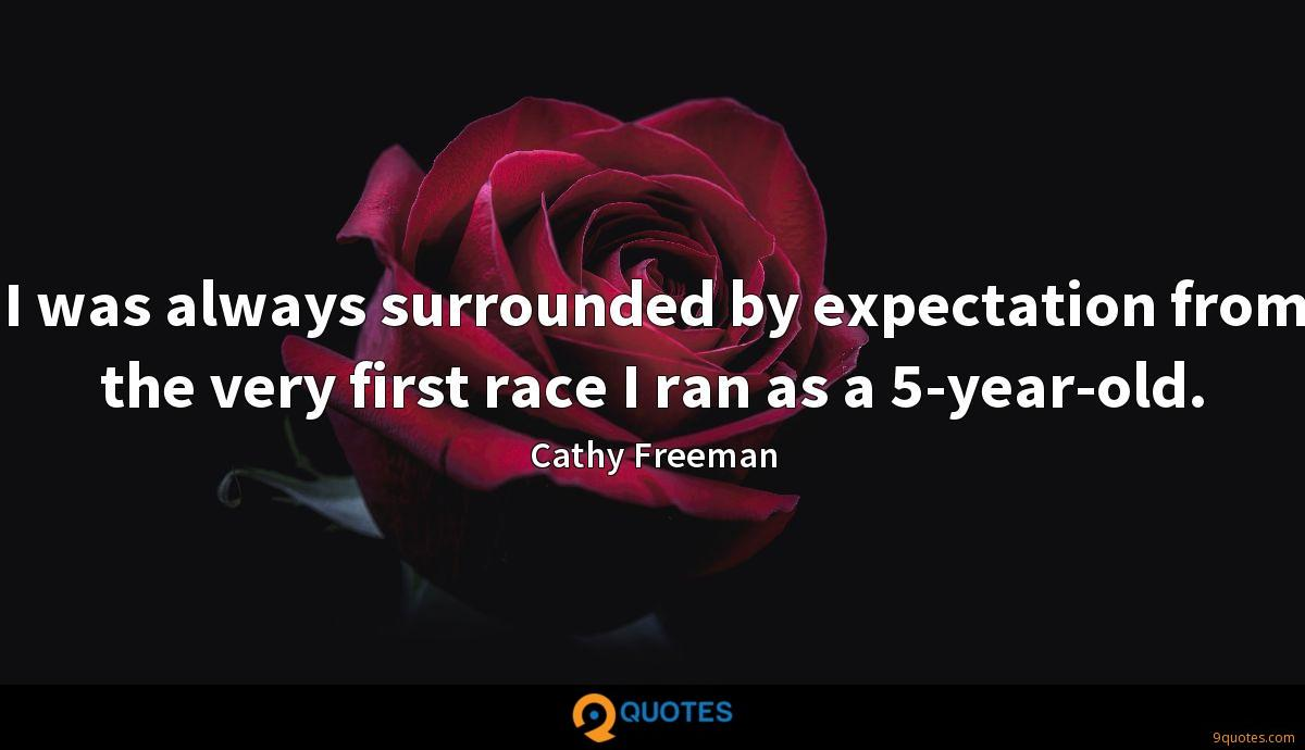 I was always surrounded by expectation from the very first race I ran as a 5-year-old.