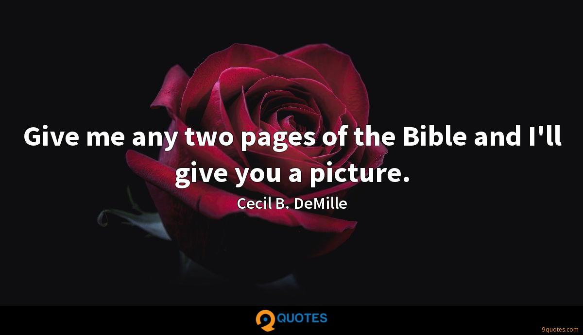 Cecil B. DeMille quotes