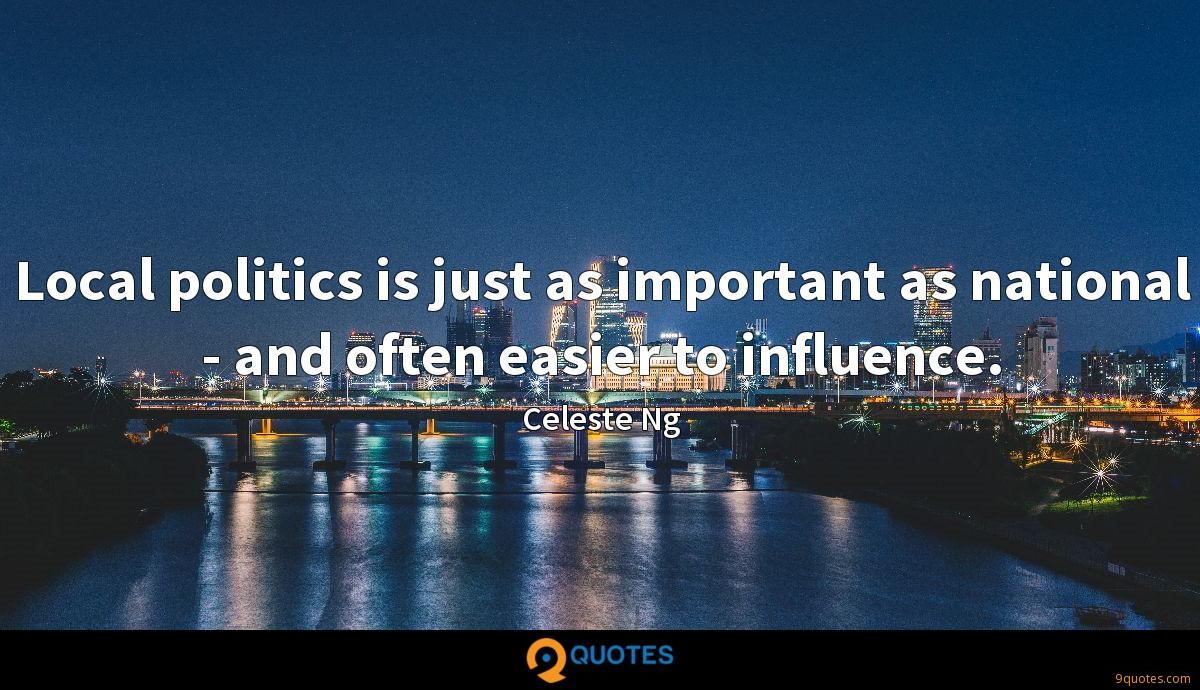 Image result for quotes about being in local politics