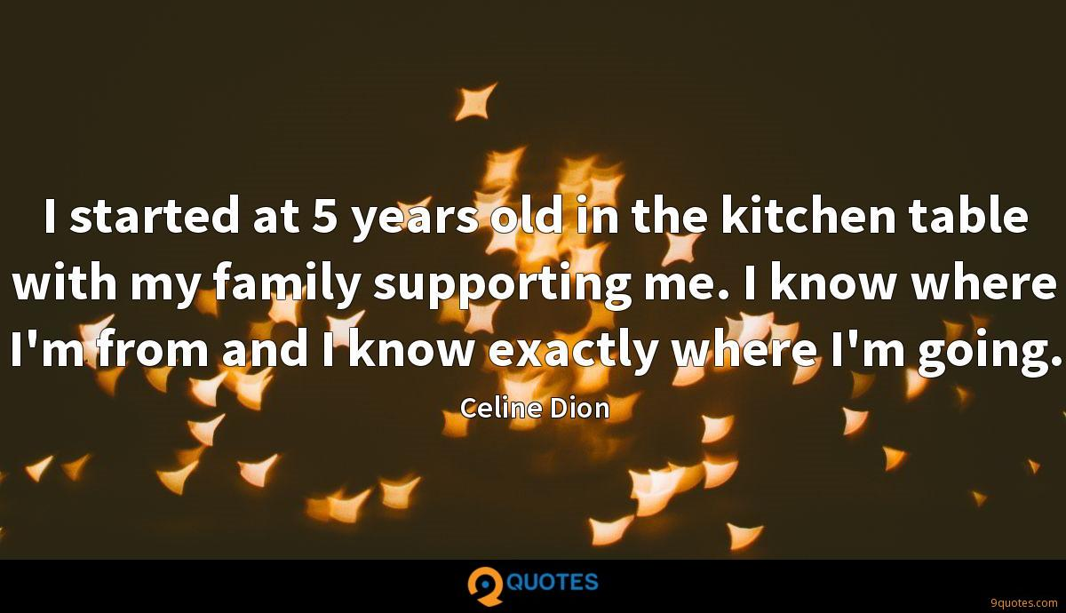 I started at 5 years old in the kitchen table with my family supporting me. I know where I'm from and I know exactly where I'm going.