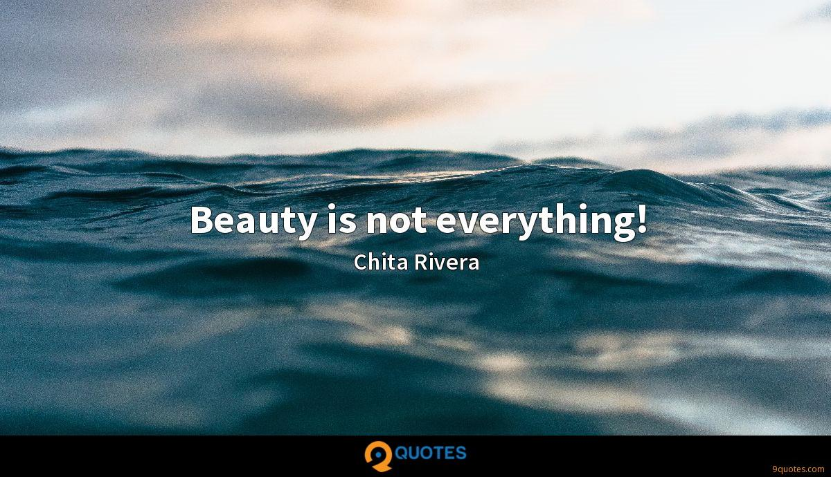Beauty is not everything!