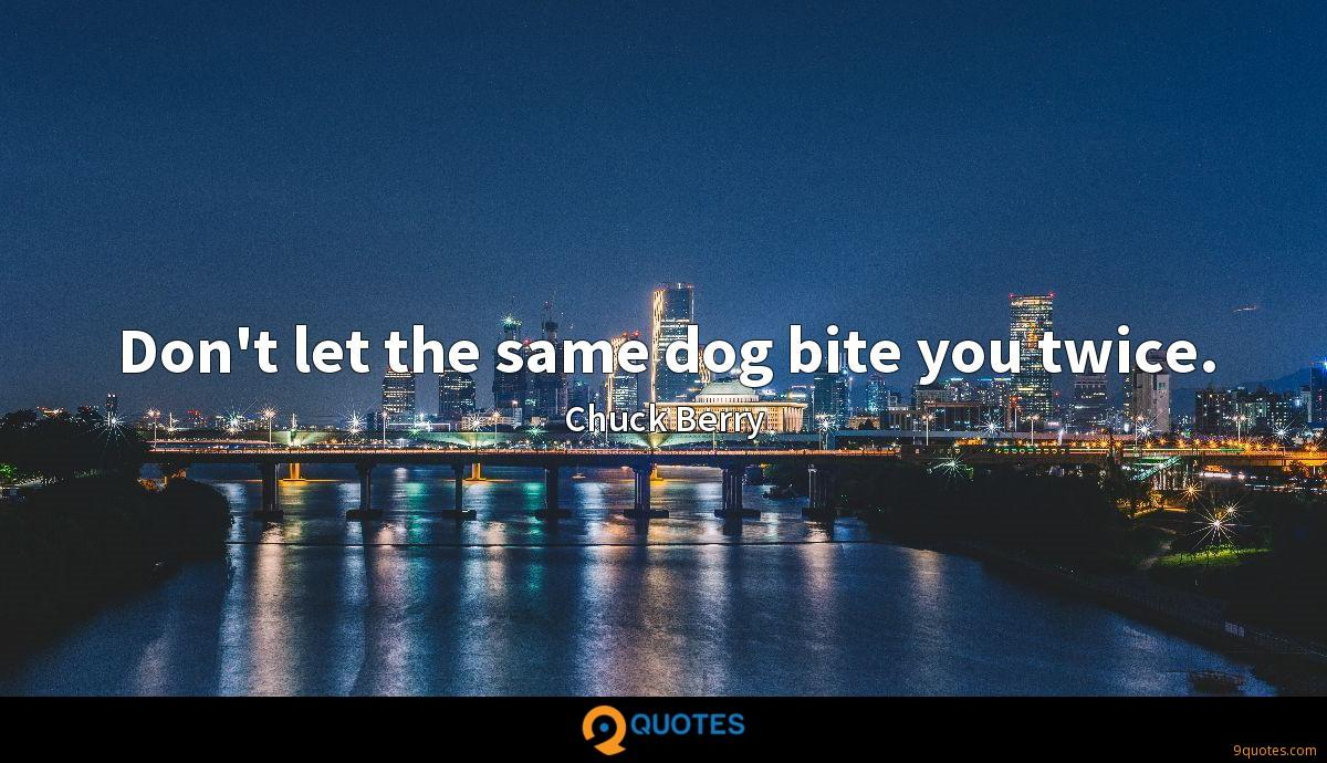 Don't let the same dog bite you twice.