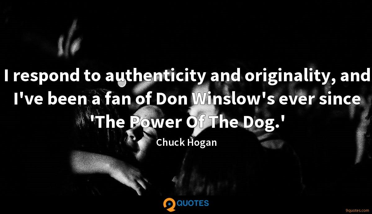 Chuck Hogan quotes