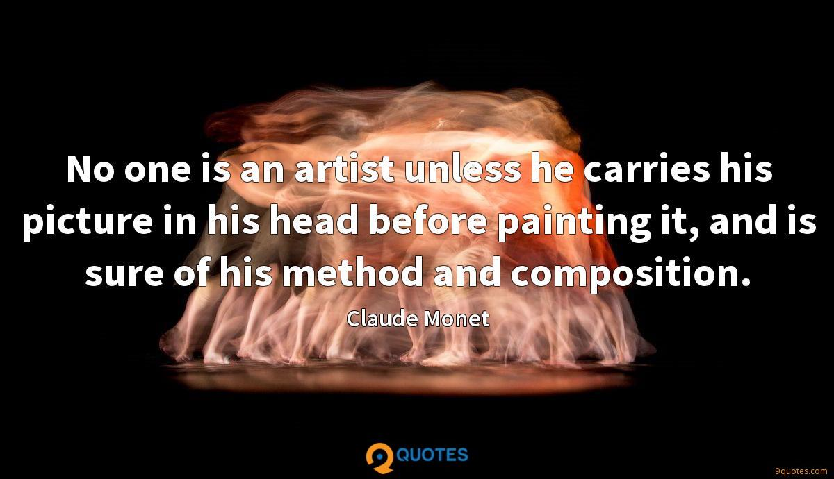 Claude Monet quotes