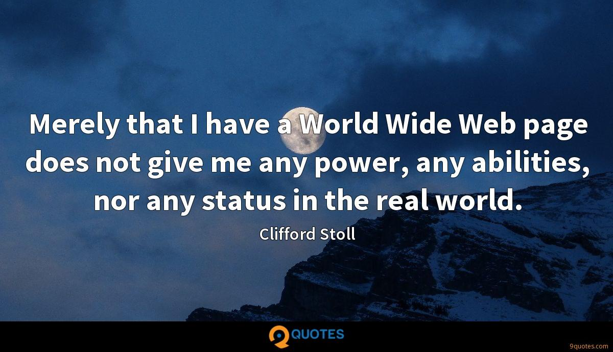Clifford Stoll quotes