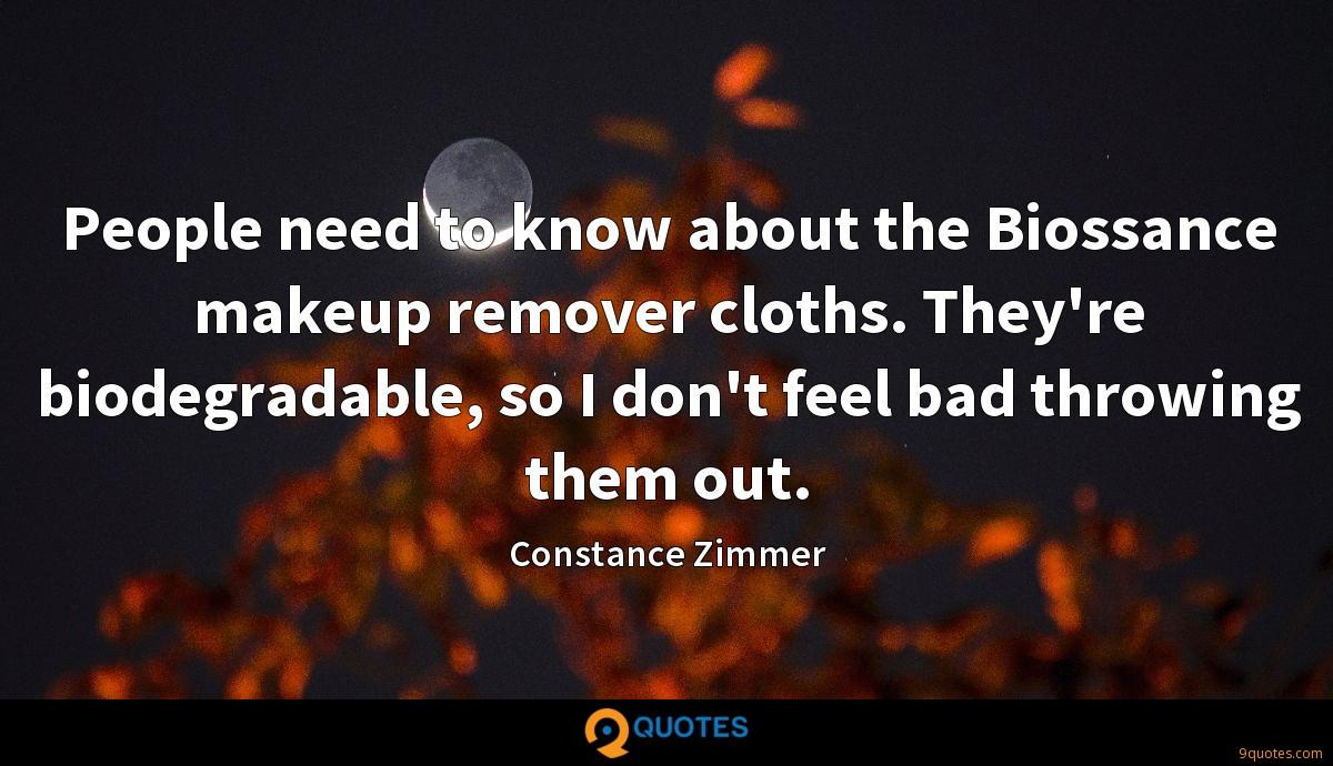People need to know about the Biossance makeup remover cloths. They're biodegradable, so I don't feel bad throwing them out.