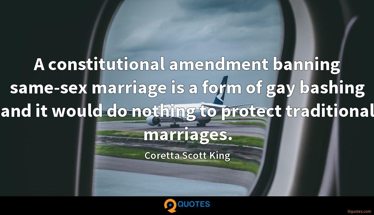 Constitutional amendment gay marriage