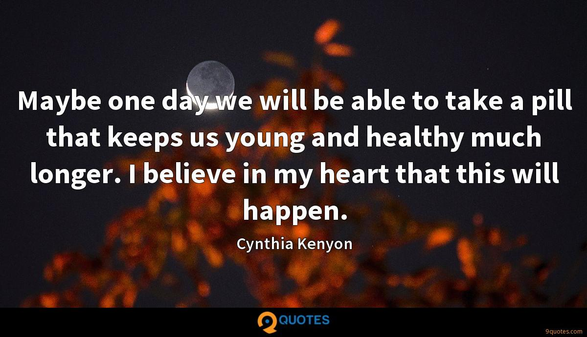 Cynthia Kenyon quotes
