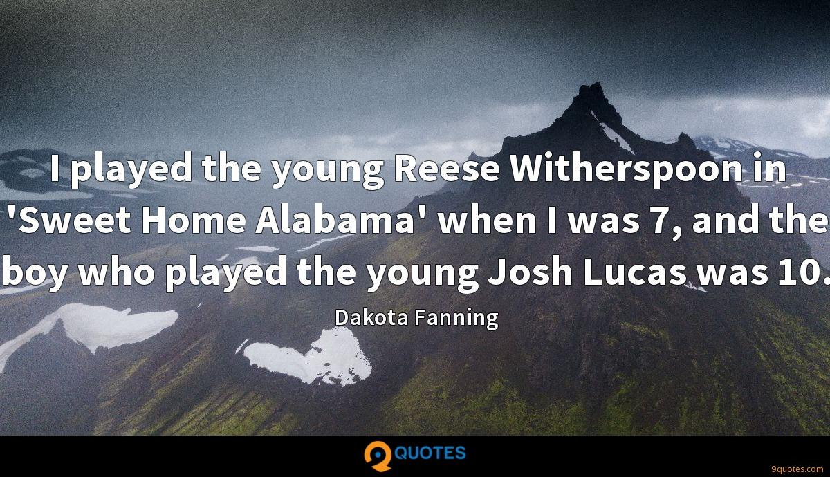 I played the young Reese Witherspoon in 'Sweet Home Alabama' when I was 7, and the boy who played the young Josh Lucas was 10.