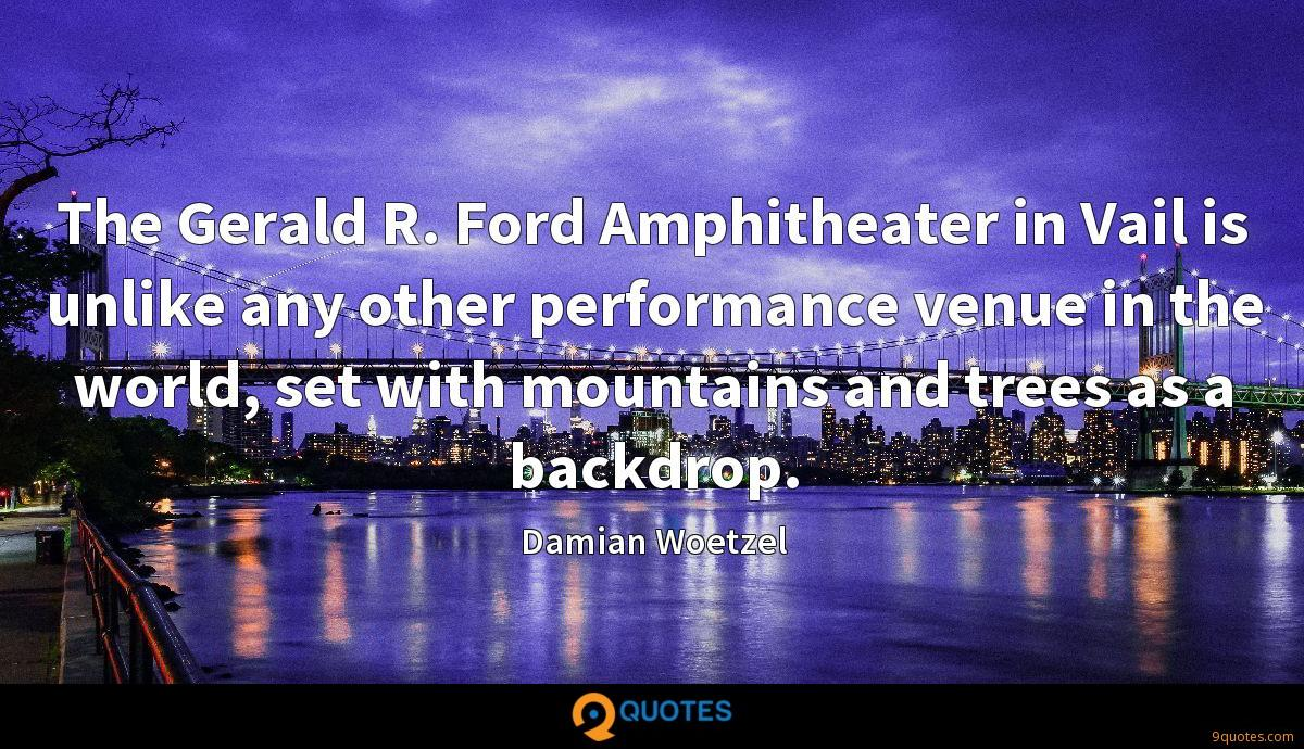 The Gerald R. Ford Amphitheater in Vail is unlike any other performance venue in the world, set with mountains and trees as a backdrop.