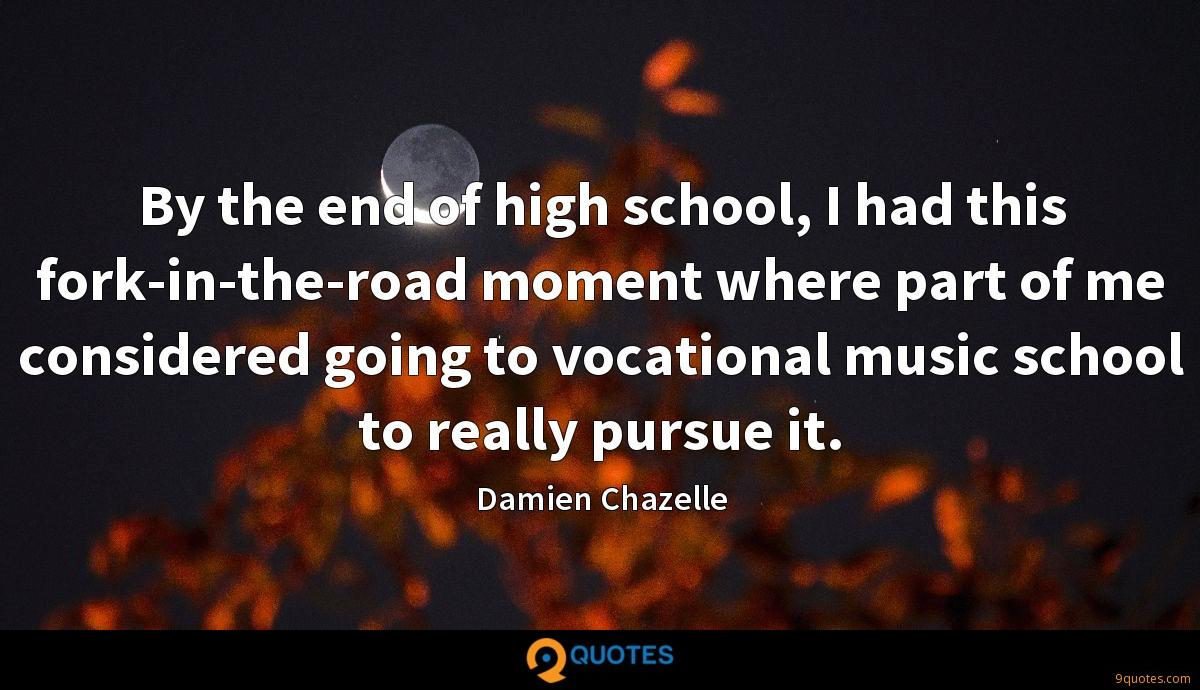 By the end of high school, I had this fork-in-the-road moment where part of me considered going to vocational music school to really pursue it.