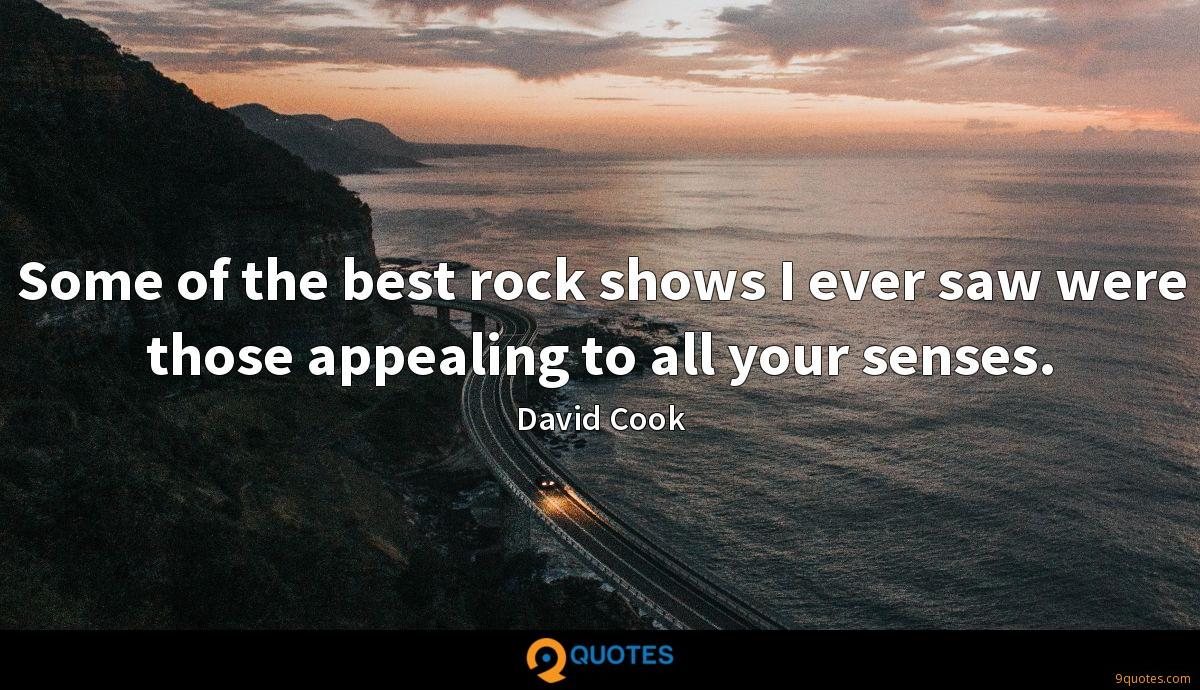 Some of the best rock shows I ever saw were those appealing to all your senses.