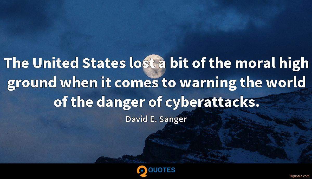 The United States lost a bit of the moral high ground when it comes to warning the world of the danger of cyberattacks.