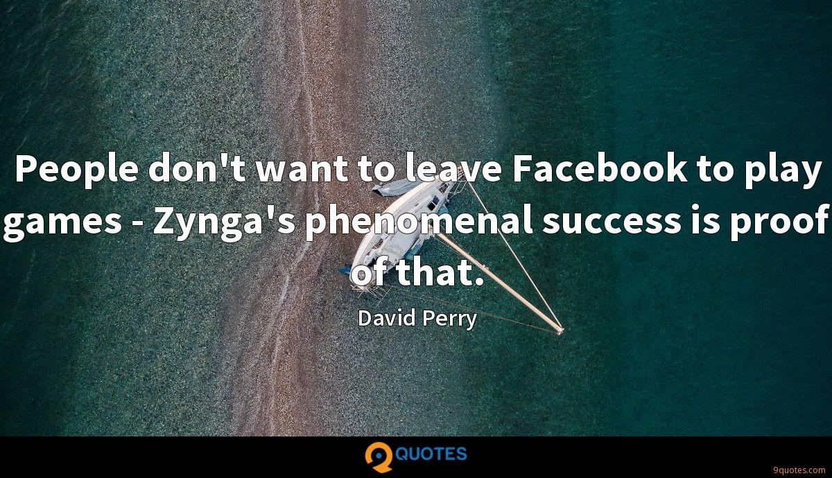 People don't want to leave Facebook to play games - Zynga's phenomenal success is proof of that.