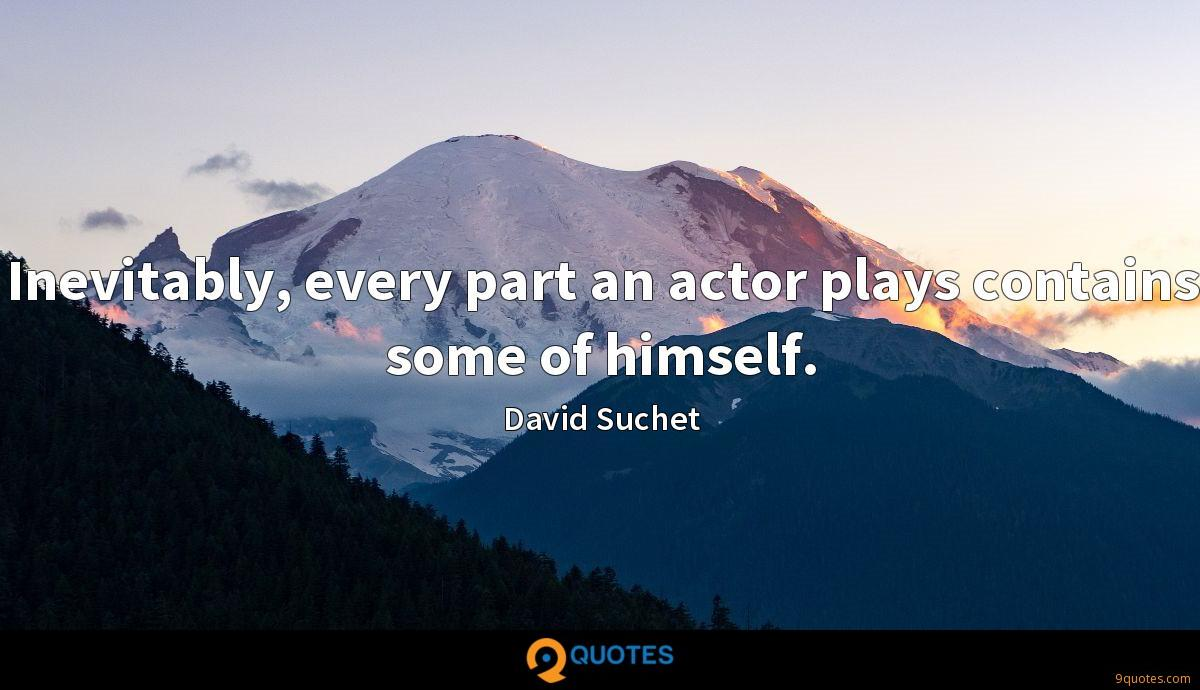 Inevitably, every part an actor plays contains some of himself.