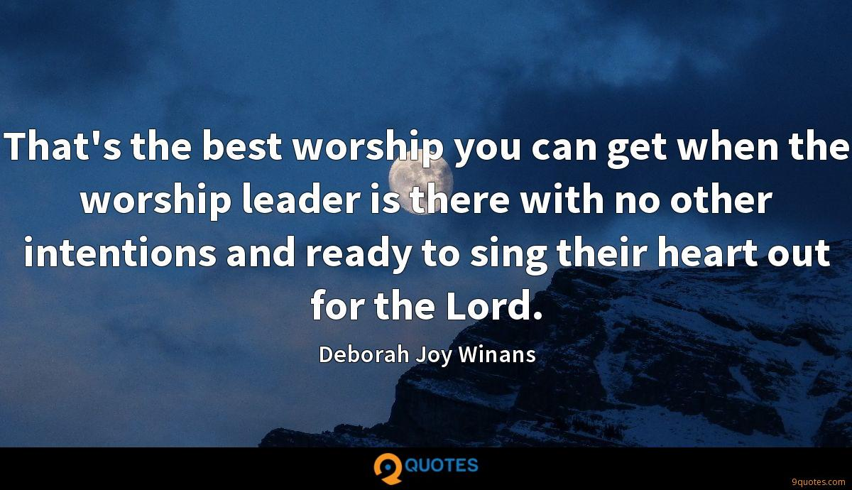 That's the best worship you can get when the worship leader is there with no other intentions and ready to sing their heart out for the Lord.