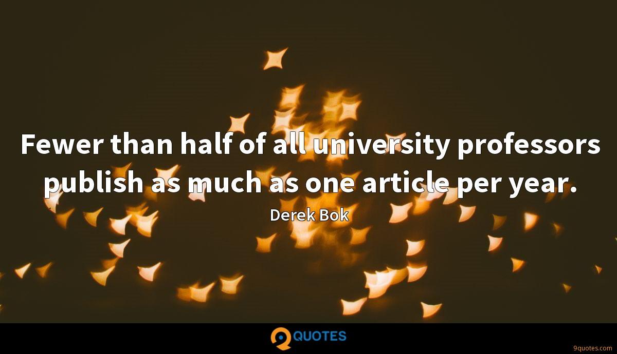 Fewer than half of all university professors publish as much as one article per year.