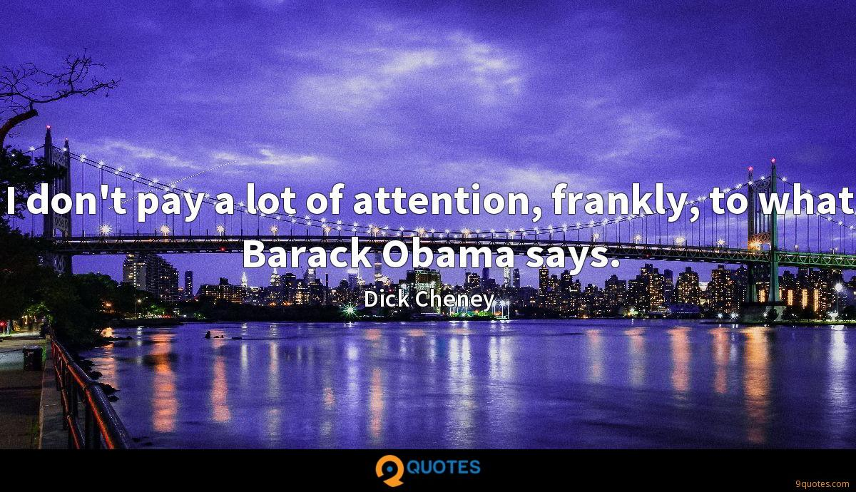 Dick Cheney quotes