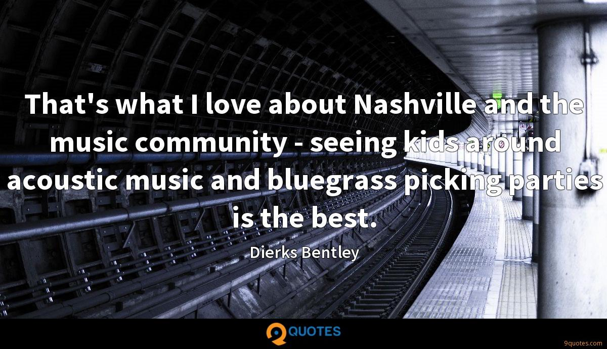 That's what I love about Nashville and the music community - seeing kids around acoustic music and bluegrass picking parties is the best.
