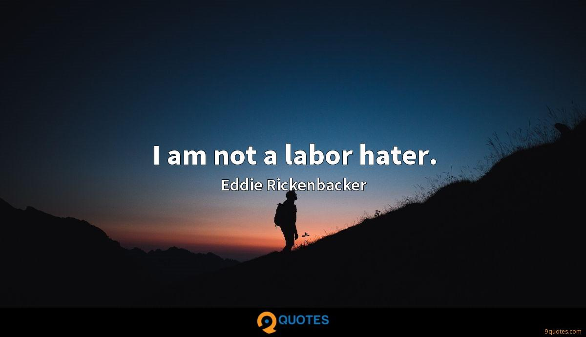 I am not a labor hater.