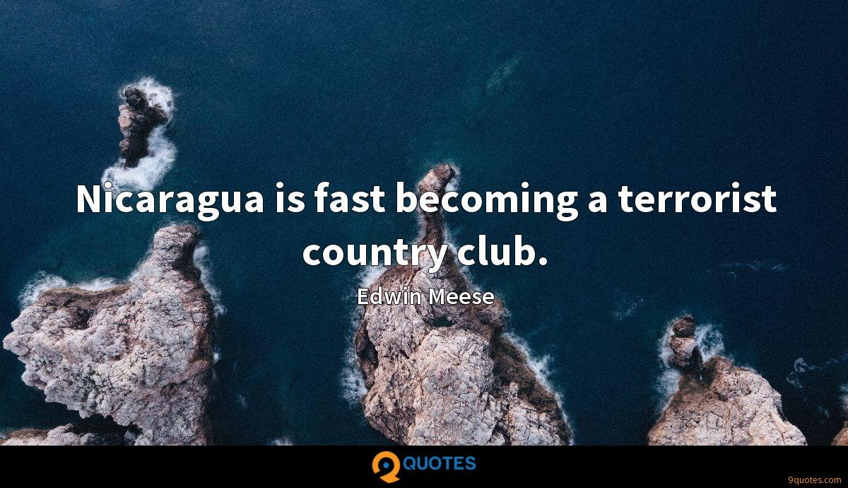 Nicaragua is fast becoming a terrorist country club.
