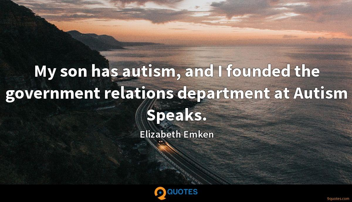 My son has autism, and I founded the government relations department at Autism Speaks.