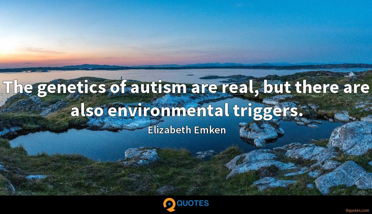 The genetics of autism are real, but there are also environmental triggers.