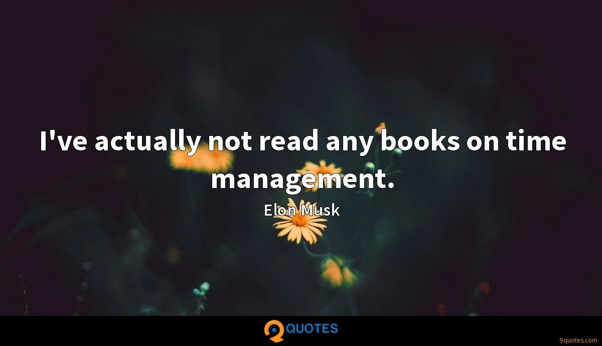 I've actually not read any books on time management.