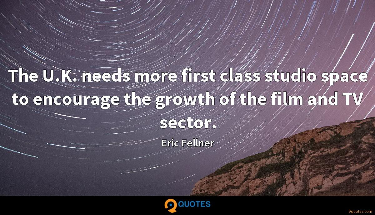 The U.K. needs more first class studio space to encourage the growth of the film and TV sector.