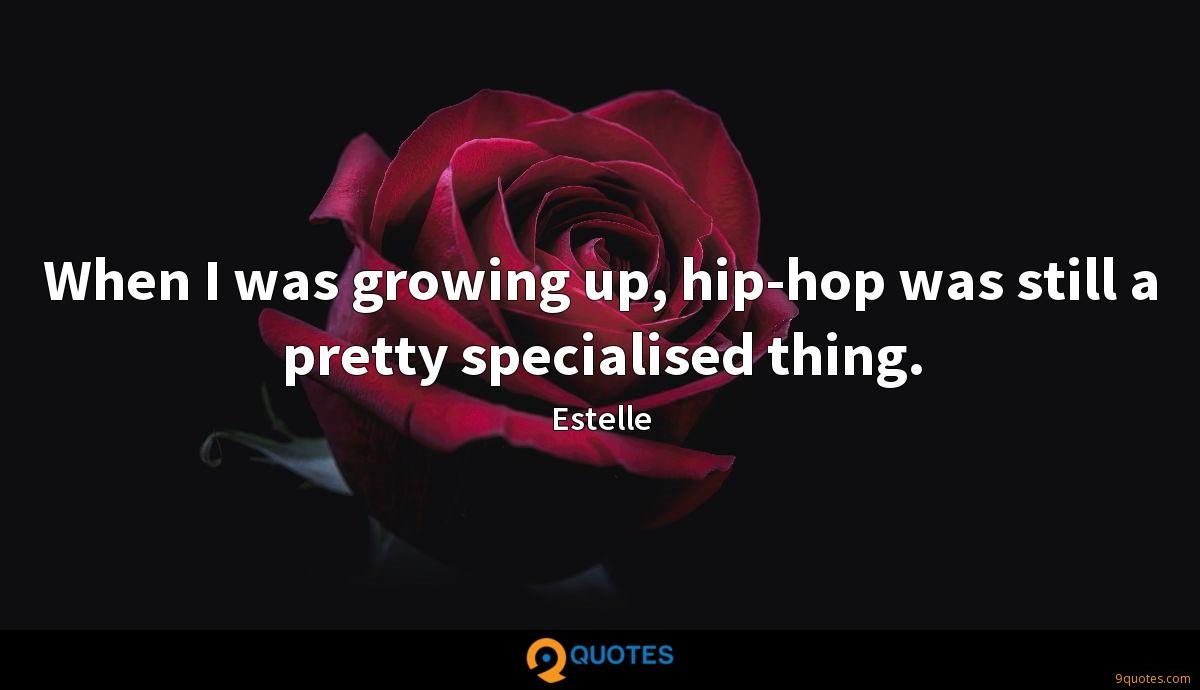 When I was growing up, hip-hop was still a pretty specialised thing.