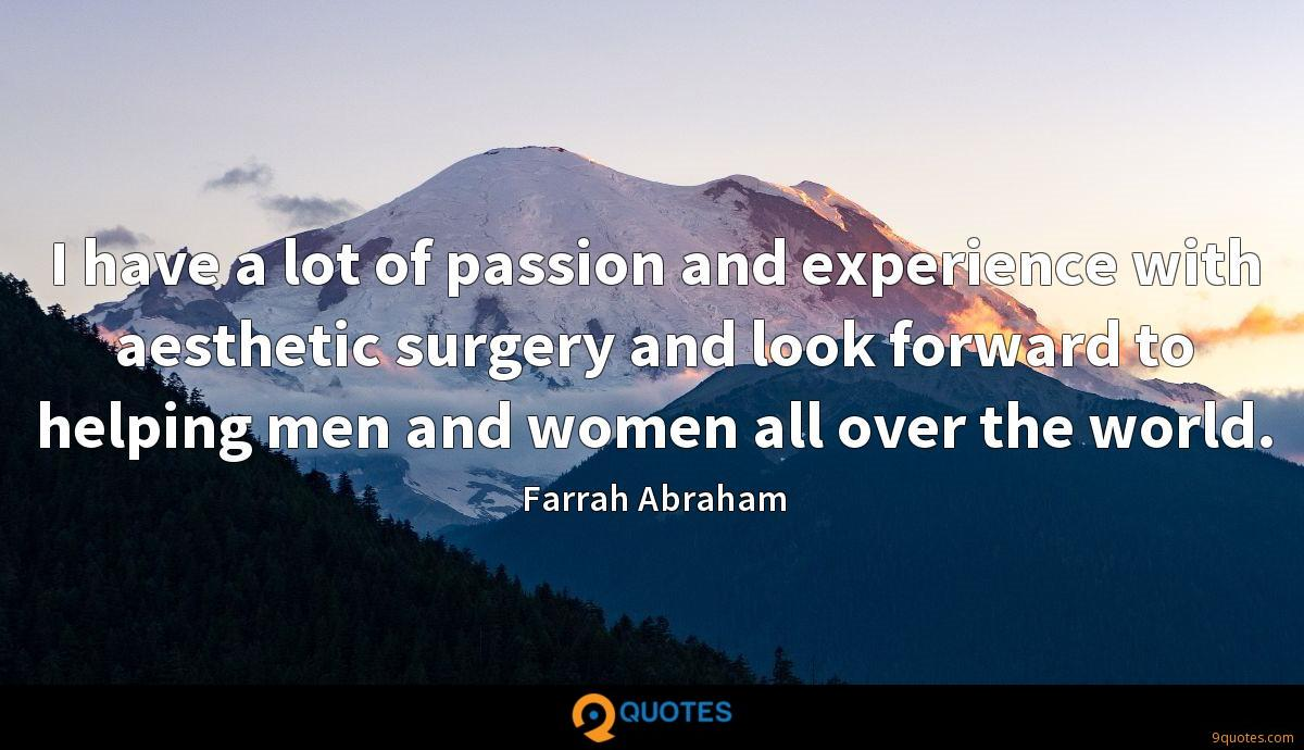 I have a lot of passion and experience with aesthetic surgery and look forward to helping men and women all over the world.